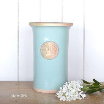 Kew Royal Botanic Gardens Florist Flower Vase in Tiffany Blue - Medium 30.5 cm H
