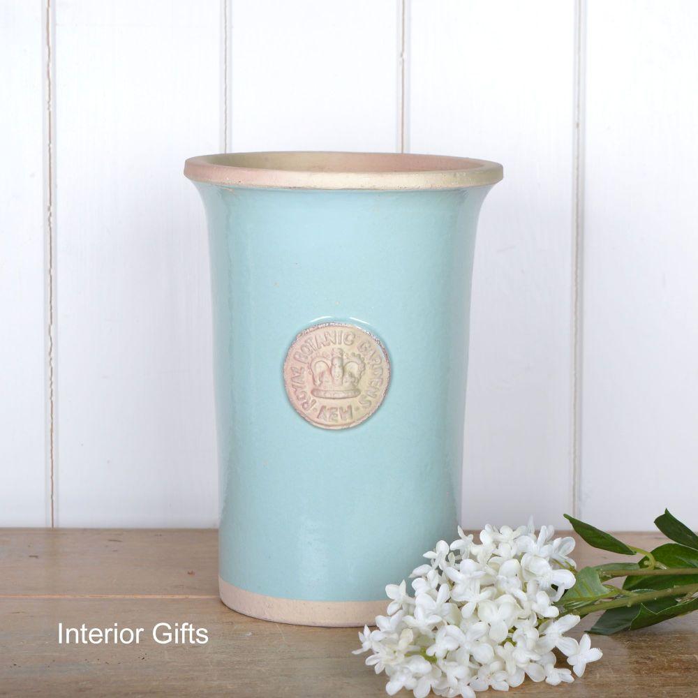 Kew Royal Botanic Gardens Florist Flower Vase in  Tiffany Blue - Small 25.5