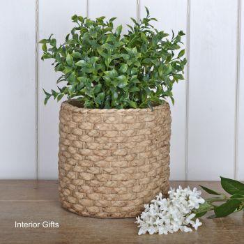 Pottery Basketweave Plant or Flower Pots - Large 21 cm H