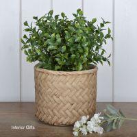 Pottery Lattice Weave Plant or Flower Pots - Medium 17 cm H