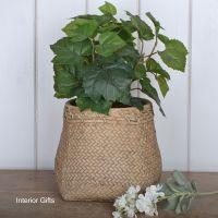 Pottery Flour Sack Plant or Flower Pots - Large 18 cm H