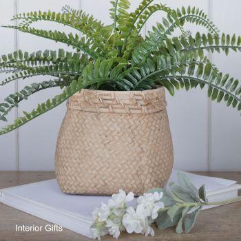 Pottery Flour Sack Plant or Flower Pots - Med 15 cm H
