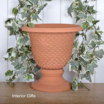 Large Neptune Garden Urn in Natural Classic Terracotta - 38 cm H