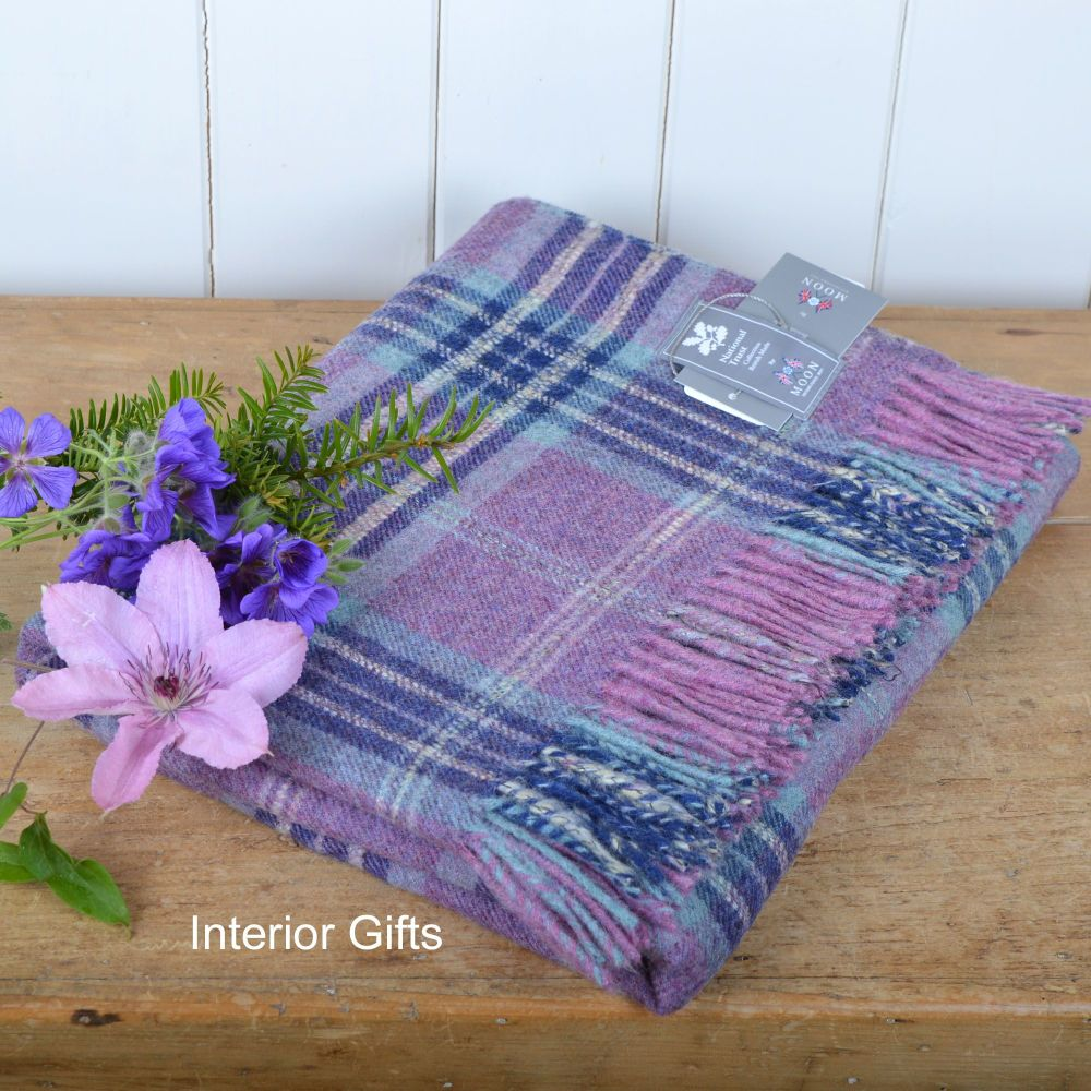 BRONTE by Moon National Trust Pink Heather Throw in Shetland Pure New Wool