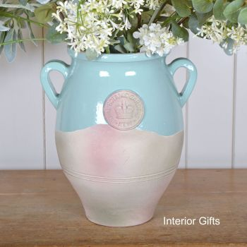 Kew Royal Botanic Gardens Vase with Handles Tiffany Blue - Large 36 cm H