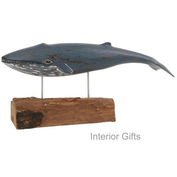 Archipelago Blue Whale Wood Carving - Small