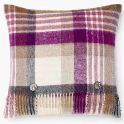 BRONTE by Moon Cushion - Melbourne  Clover Check Merino Lambswool