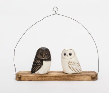 Archipelago Owl Hanger Bird Wood Carving