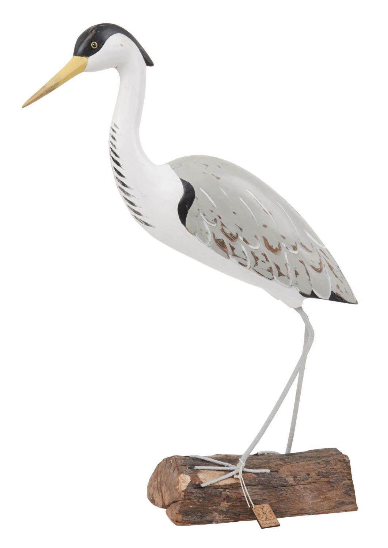 Archipelago Heron Fishing Bird Wood Carving *NEW*