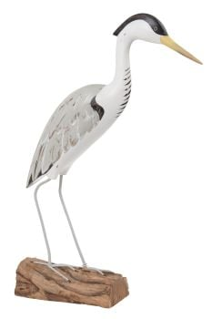 Archipelago Heron Standing Bird Wood Carving *NEW*