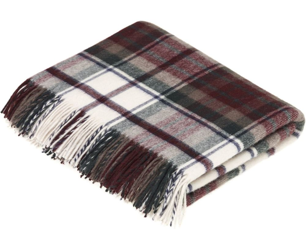 BRONTE by Moon Classic Dress McDuff Tartan Check Throw in Supersoft Merino
