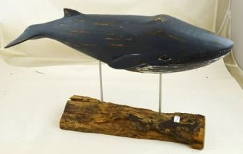Archipelago Blue Whale Wood Carving - Large