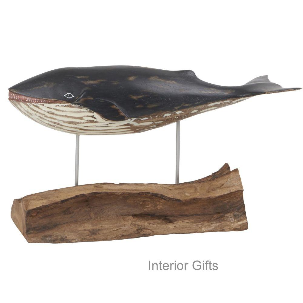 Archipelago Minke Whale Wood Carving -Small