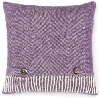 BRONTE by Moon Cushion - Herringbone Lavender Shetland Wool