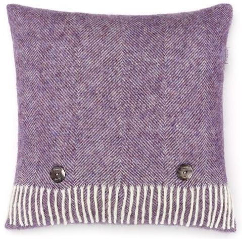 BRONTE by Moon Cushion - Herringbone Lavender Shetland Wool
