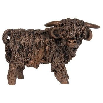 HIGHLAND BULL Standing Malcolm Frith Bronze Sculpture  Miniature*NEW* by Veronica Ballan