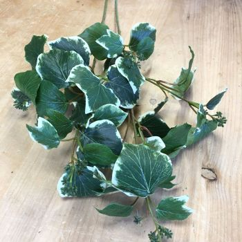 Faux Variegated French Ivy Spray 70 cm