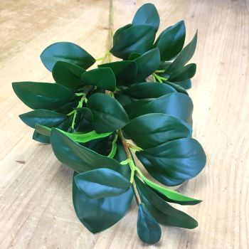 Faux Fresh Green Leaf Foliage Spray 65 cm