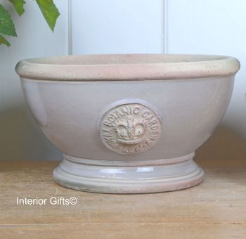 Kew Footed Bowl in Almond - Royal Botanic Gardens Plant Pot - Small