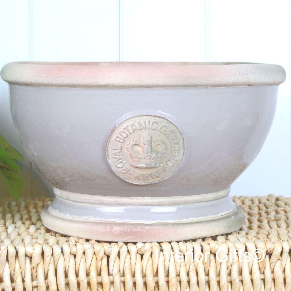 Kew Footed Bowl in Almond - Royal Botanic Gardens Plant Pot - Large