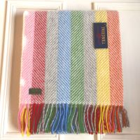 Tweedmill Herringbone Stripe Grey Multi Pure New Wool Throw