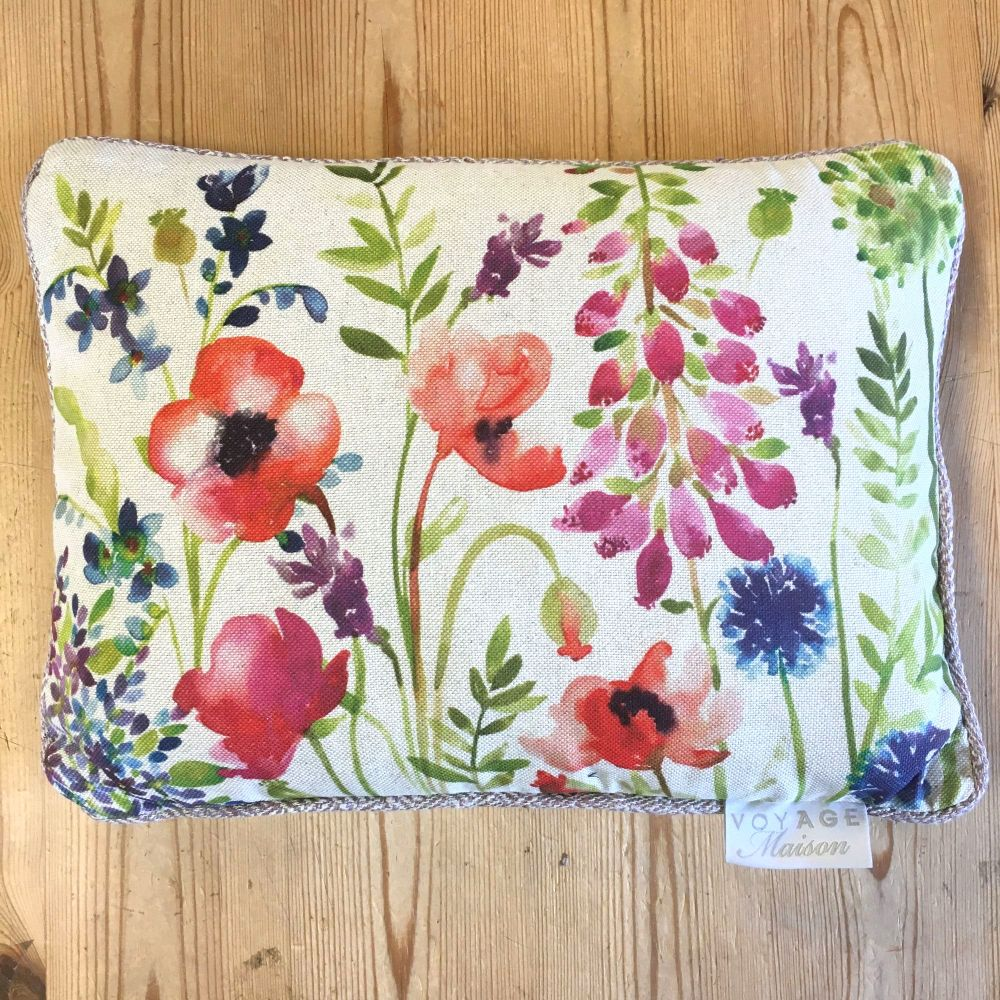 Voyage Meadow Flowers Country Mini Arthouse Cushion Small - 25 x 35 cm
