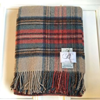 Bronte by Moon  Antique Dress Stewart Pure New Wool Throw / Blanket