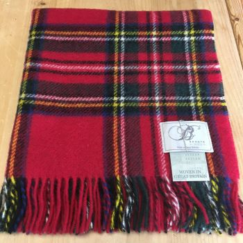 Bronte by Moon Knee Rug or Small Blanket Royal Stewart Pure New Wool