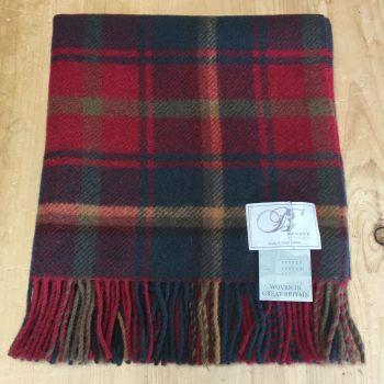 Bronte by Moon Knee Rug or Small Blanket Dark Maple Pure New Wool