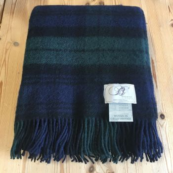 Bronte by Moon Blackwatch Pure New Wool Throw / Blanket