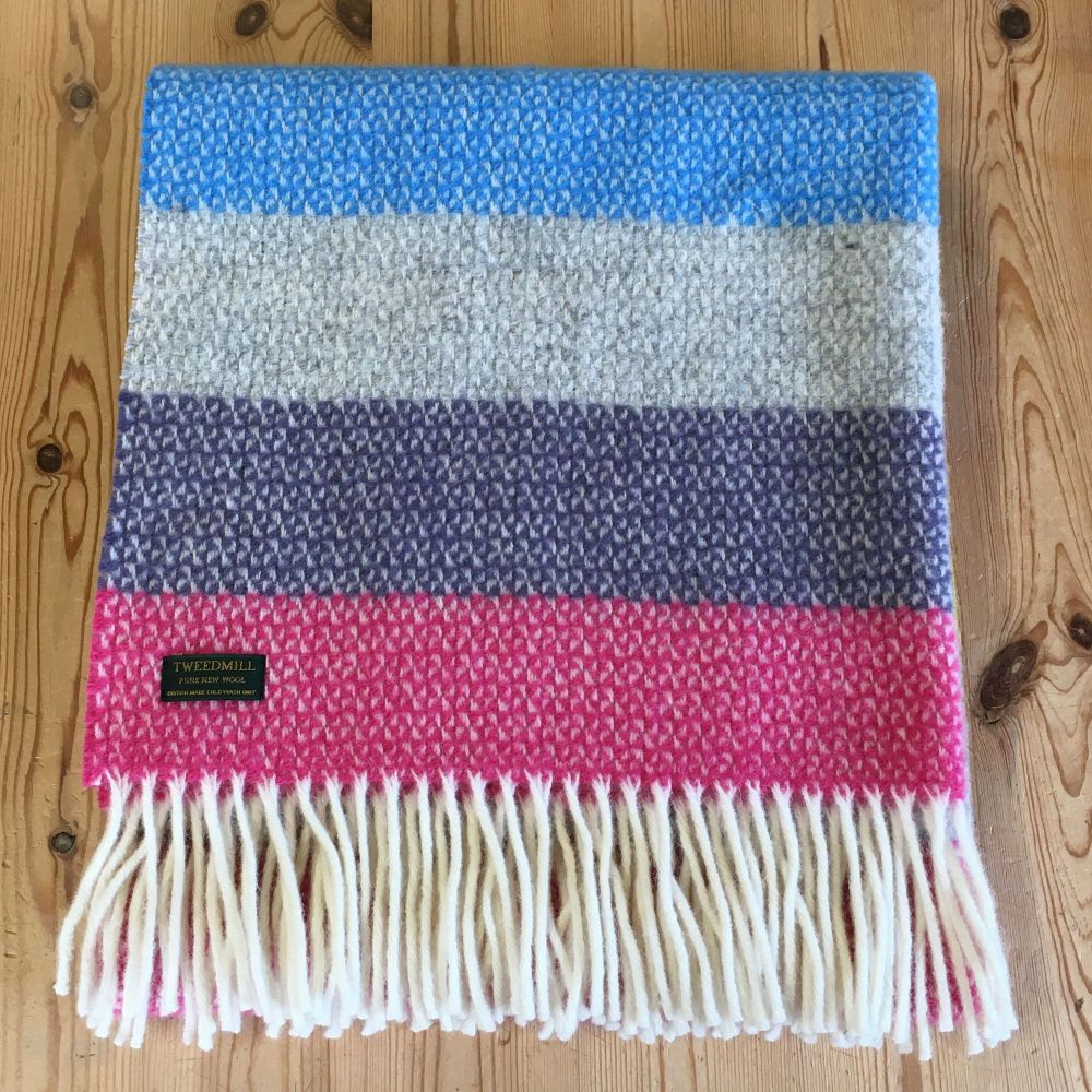 Tweedmill Tutti Frutti Ascot Knee Rug or Small Blanket Throw Pure New Wool