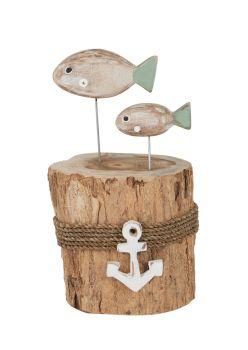 Archipelago Puffa Fish Stump Wood Carving