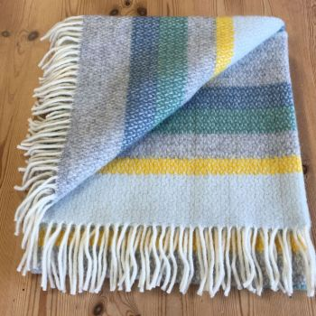 Tweedmill Horizon Stripe Ascot Pure New Wool Throw Blanket