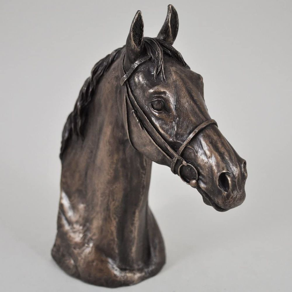 Bronze Sculpture Horse Head Bust Thoroughbred Head