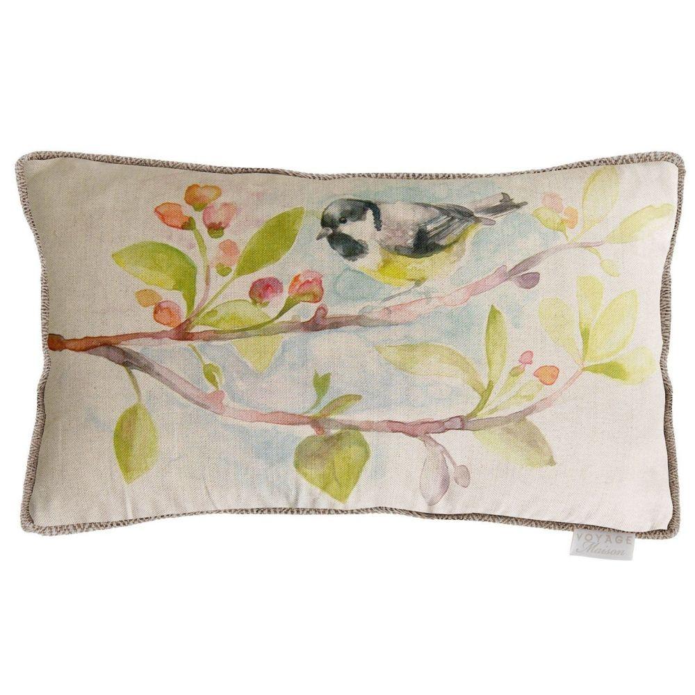 Voyage Garden Bird Rectangular Country Cushion - 30 x 40cm