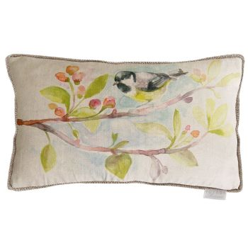 Voyage Garden Bird Rectangular Country Cushion - 30 x 40cm
