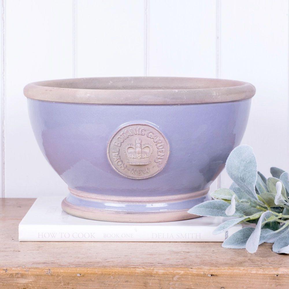 Kew Footed Bowl in Brassica Purple - Royal Botanic Gardens Plant Pot - Larg