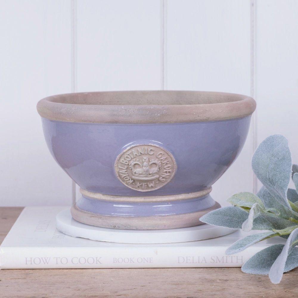 Kew Footed Bowl in Brassica Purple - Royal Botanic Gardens Plant Pot - Smal