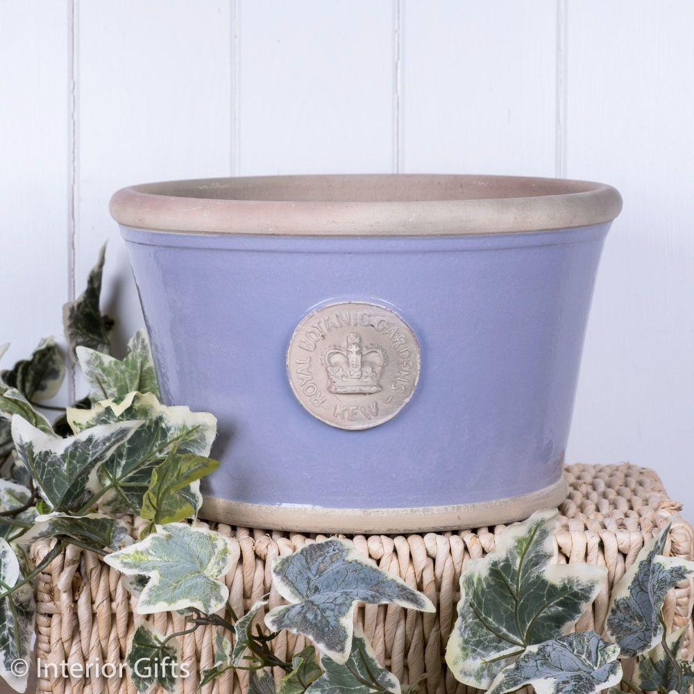 Kew Low Planter Pot Brassica Lavender - Royal Botanic Gardens Plant Pot - L
