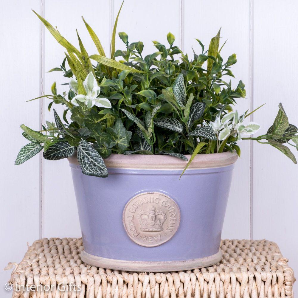 Kew Low Planter Pot Brassica Lavender - Royal Botanic Gardens Plant Pot - M
