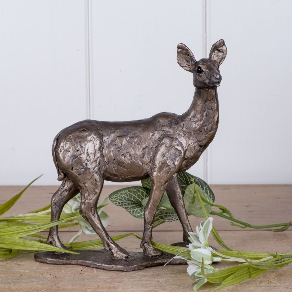 Hind Deer Frith Bronze Sculpture by Thomas Meadows