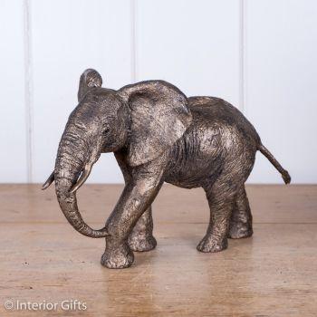 Magnificent Mother Elephant Frith Bronze Sculpture by Juliet Collins
