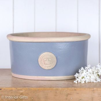 Kew Oval Planter in Manor Blue - Royal Botanic Gardens Plant Pot - Large