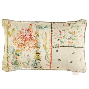 Voyage Carneum Floral Rectangular Country Cushion - 40 x 60cm