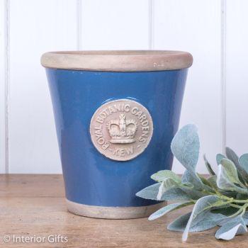 Kew Long Tom Pot Pitch Blue - Royal Botanic Gardens Plant Pot - Medium