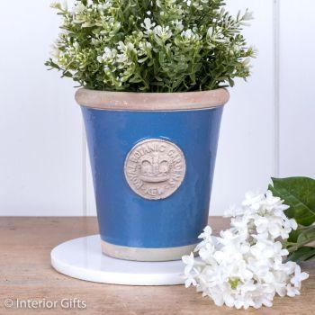 Kew Long Tom Pot Pitch Blue - Royal Botanic Gardens Plant Pot - Small