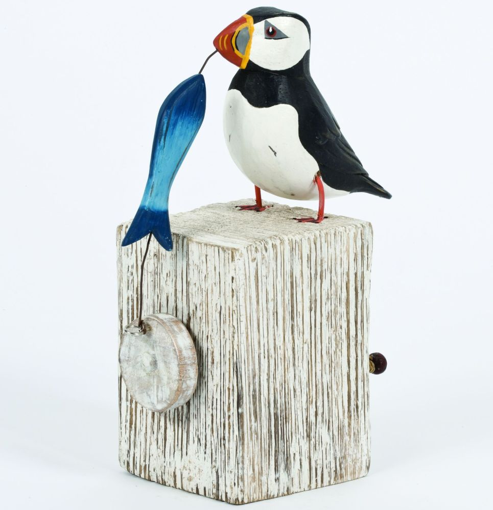 Archipelago Puffin Automation Moving Bird Wood Carving