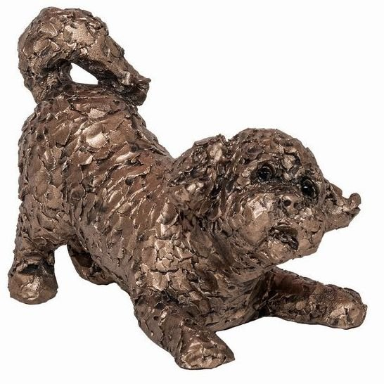 PUMPKIN Cavapoo Playing Frith Bronze Sculpture *NEW* by Adrian Tinsley