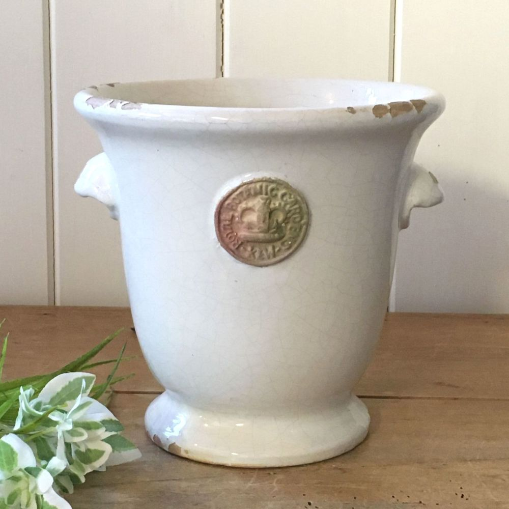 Kew Cachepot with Handles Bone White - Royal Botanic Gardens Plant Pot - La
