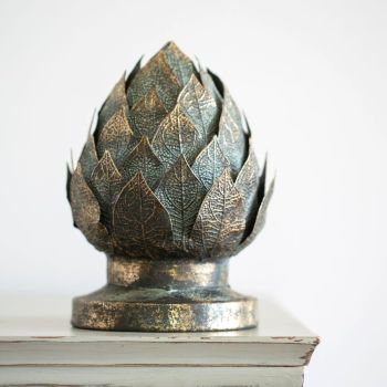 Decorative Artichoke in Vintage Brass
